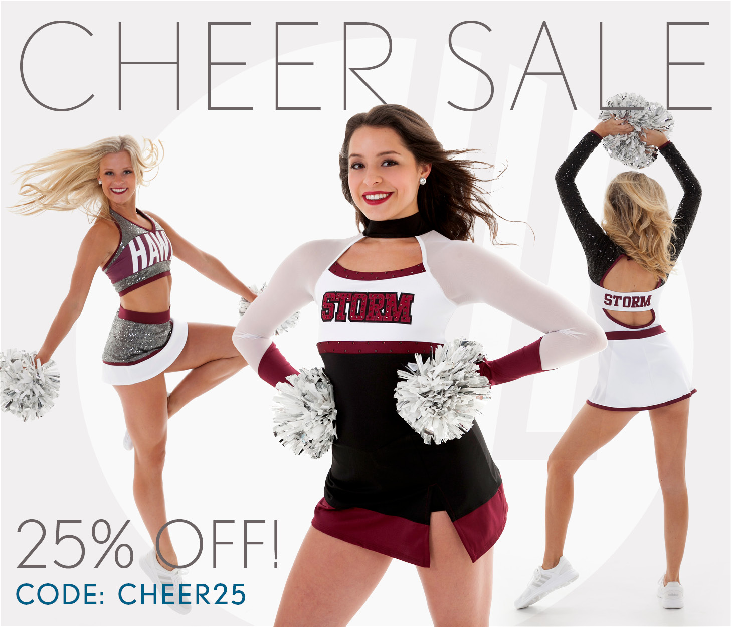 Save 25% on all Cheer Uniforms and Game Day Looks!